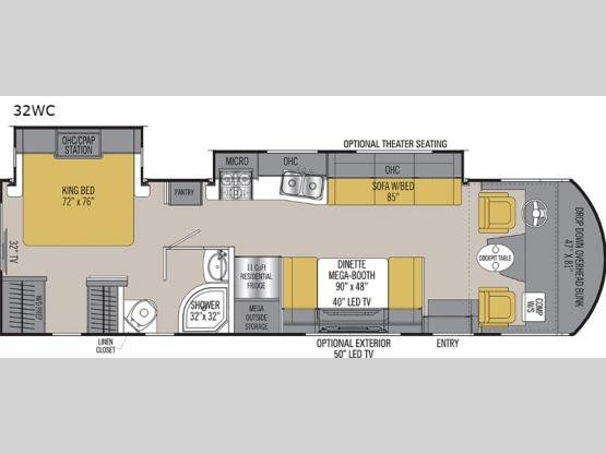 Pursuit 32WC Floorplan Image