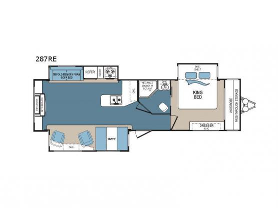 Denali 287RE Floorplan Image