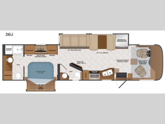 Pace Arrow 36U Floorplan Image