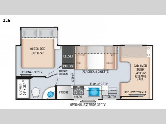 Chateau 22B Chevy Floorplan Image