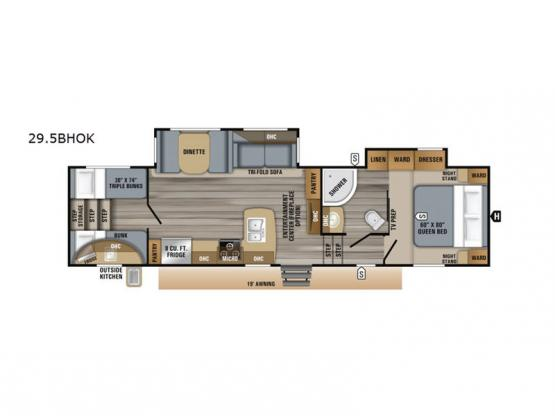 Eagle HT 29.5BHOK Floorplan Image