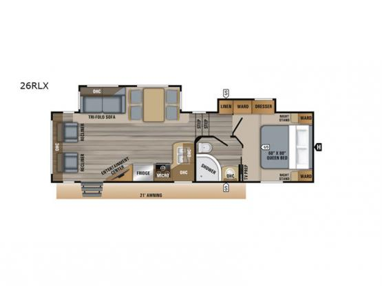 Eagle HT 26RLX Floorplan Image