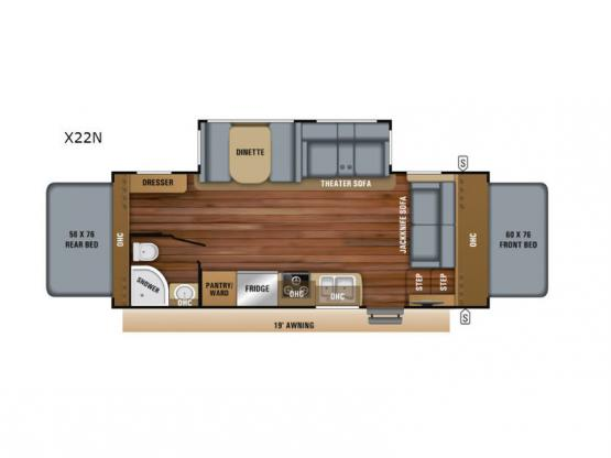 Jay Feather X22N Floorplan Image