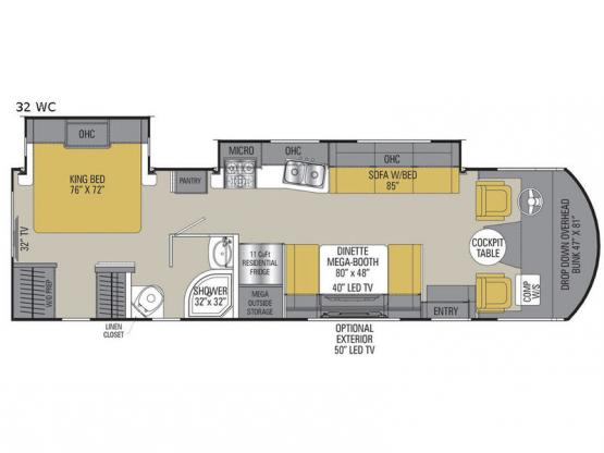 Pursuit 32 WC Floorplan Image