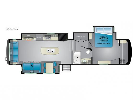 Big Country 3560 SS Floorplan Image