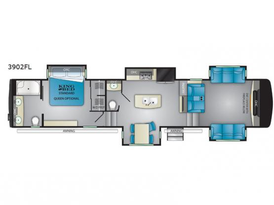Big Country 3902FL Floorplan Image