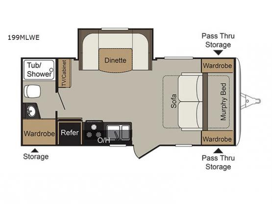 Passport 199MLWE Express Floorplan Image