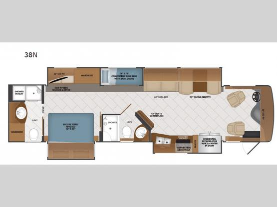 Pace Arrow LXE 38N Floorplan Image