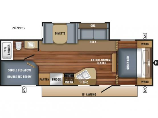 Jay Flight SLX 267BHS Floorplan Image