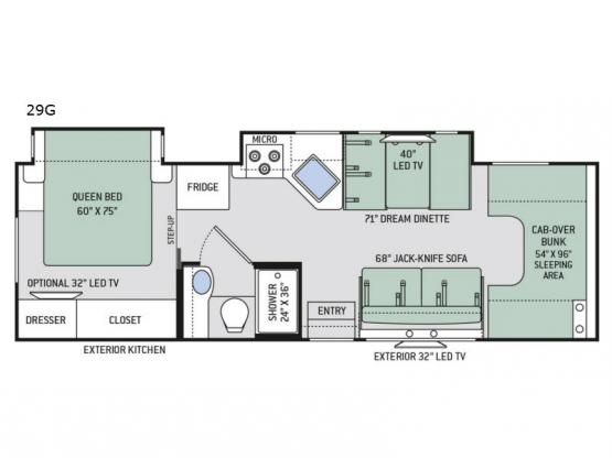 Four Winds 29G Floorplan Image