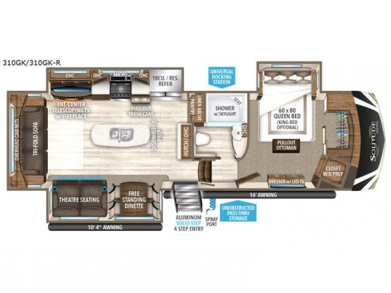 Solitude 310GK Floorplan Image