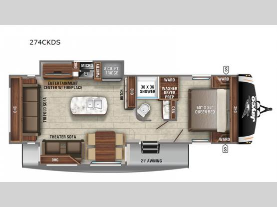 Eagle HT 274CKDS Floorplan Image