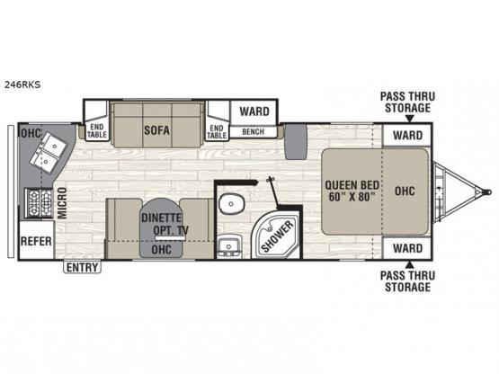 Freedom Express 246RKS Floorplan Image