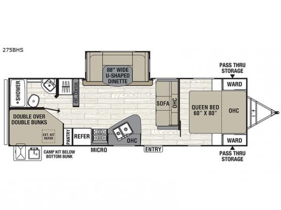 Freedom Express 275BHS Floorplan Image