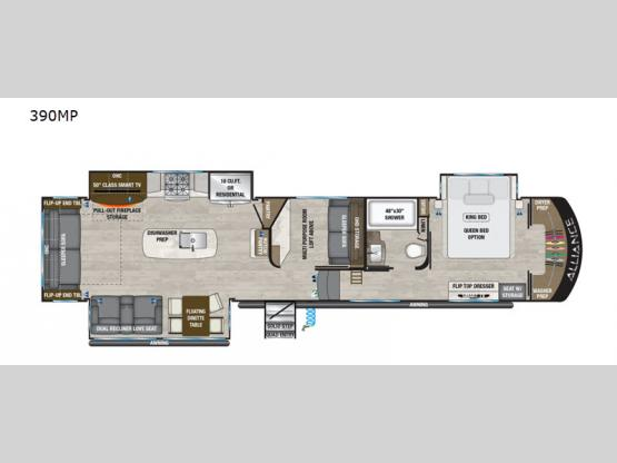 Paradigm 390MP Floorplan Image