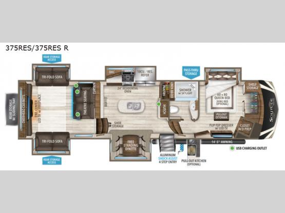 Solitude 375RES Floorplan Image