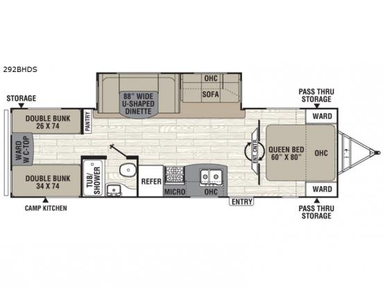 Freedom Express 292BHDS Floorplan Image