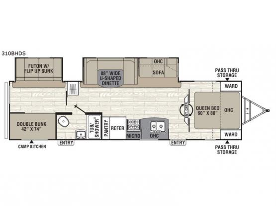 Freedom Express 310BHDS Floorplan Image