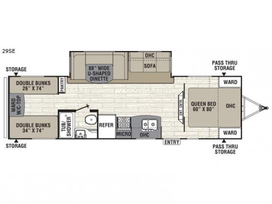 Freedom Express 29SE Floorplan Image