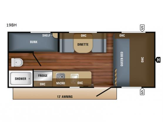 Jay Feather 7 19BH Floorplan Image