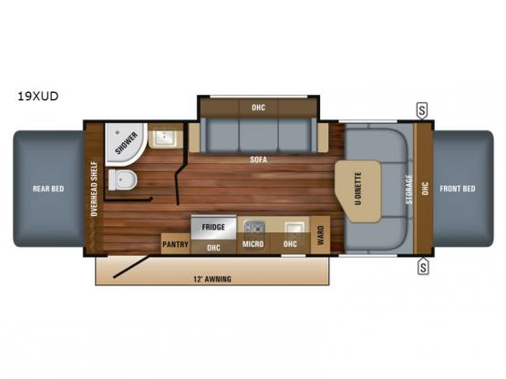 Jay Feather 7 19XUD Floorplan Image