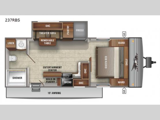 Jay Flight SLX 8 237RBS Floorplan Image