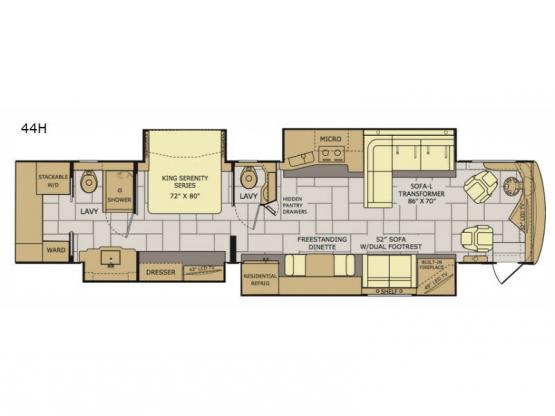 Discovery LXE 44H Floorplan Image