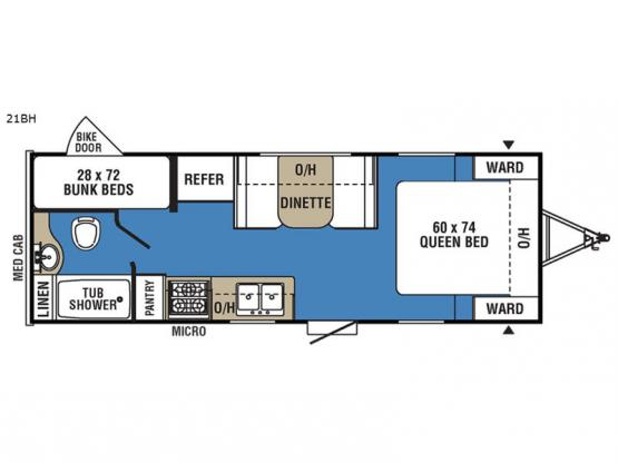 Clipper Ultra-Lite 21BH Floorplan Image