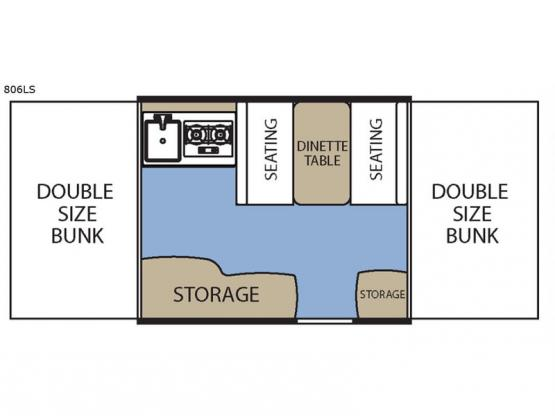 Clipper Camping Trailers 806 LS Floorplan Image