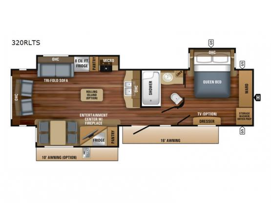 Eagle 320RLTS Floorplan Image