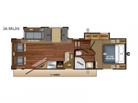 Eagle HT 26.5RLDS Floorplan Image
