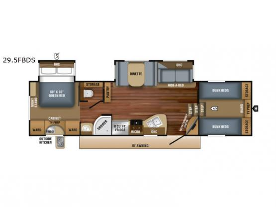 Eagle HT 29.5FBDS Floorplan Image