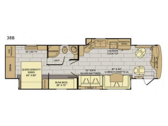 Pace Arrow LXE 38B Floorplan Image