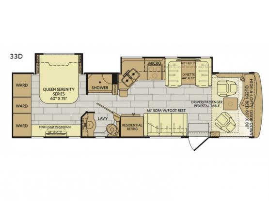 Pace Arrow 33D Floorplan Image