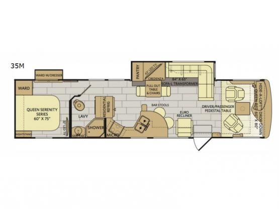 Pace Arrow 35M Floorplan Image