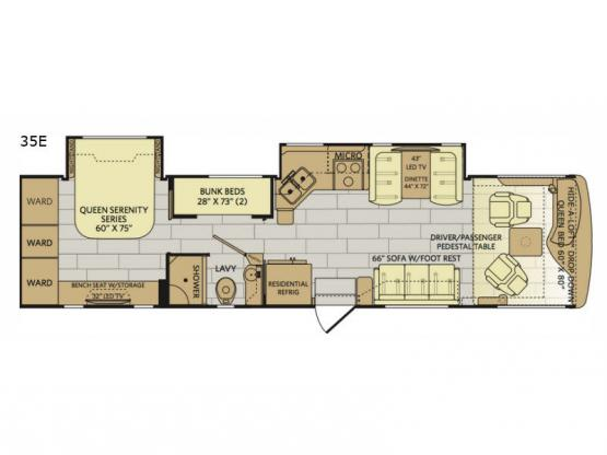 Pace Arrow 35E Floorplan Image