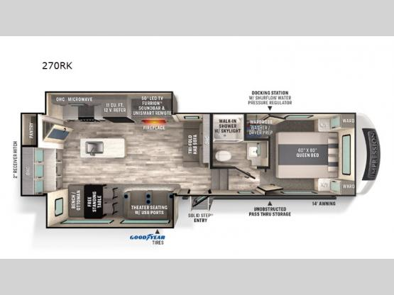 Impression 270RK Floorplan Image