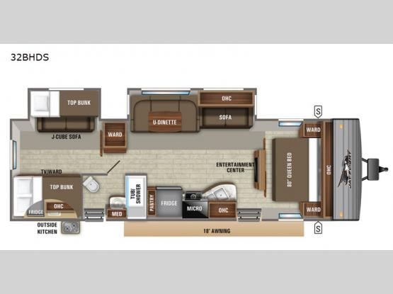 Jay Flight 32BHDS Floorplan Image