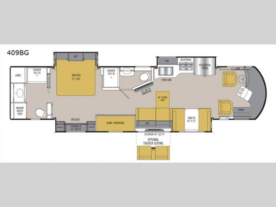 Sportscoach Cross Country RD 409BG Floorplan Image