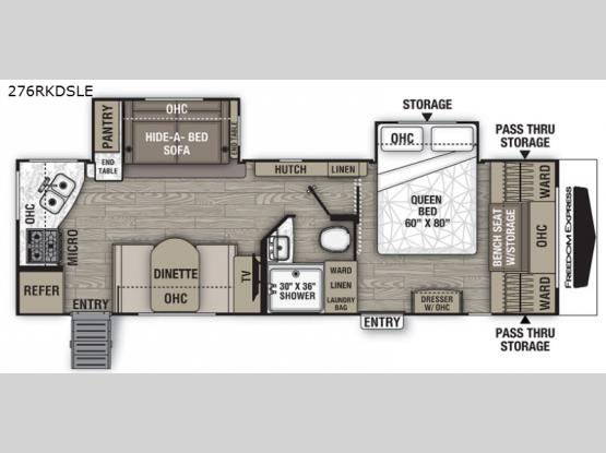 Freedom Express Liberty Edition 276RKDSLE Floorplan Image