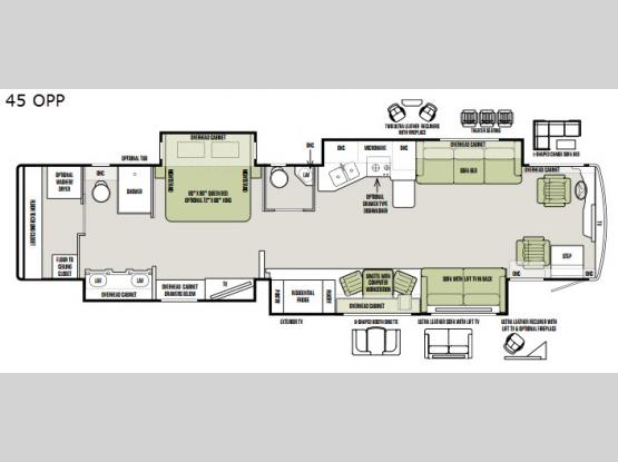 Allegro Bus 45 OPP Floorplan Image