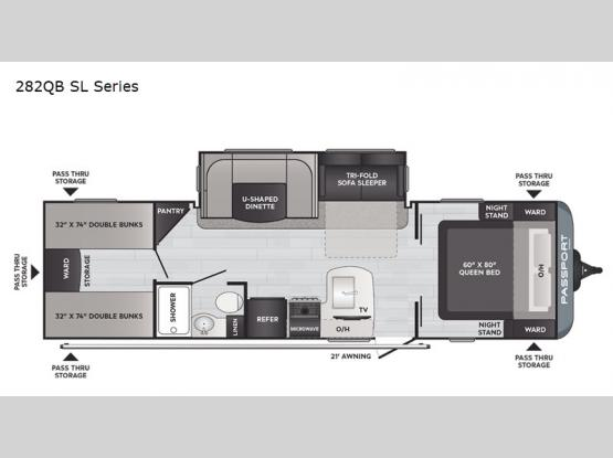 Passport 282QB SL Series Floorplan Image
