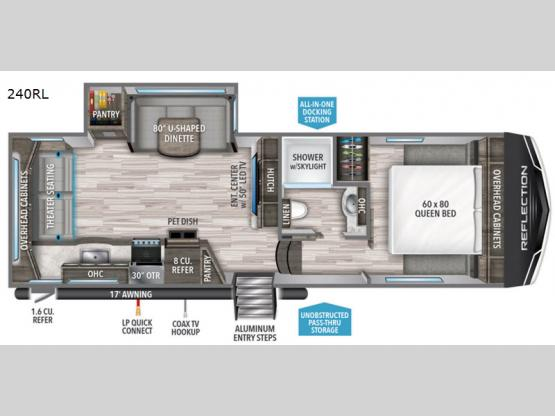 Reflection 150 Series 240RL Floorplan Image