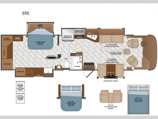 Pace Arrow 35S Floorplan Image