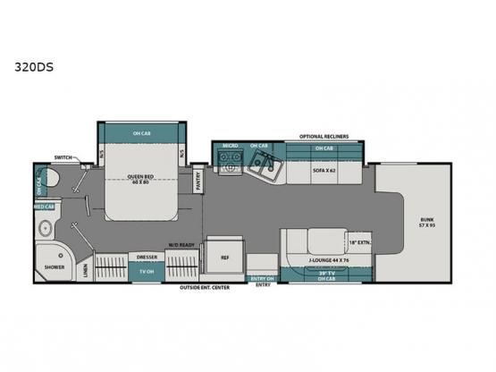 Leprechaun 320DS Ford 450 Floorplan Image