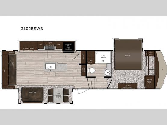 Sanibel 3102RSWB Floorplan Image