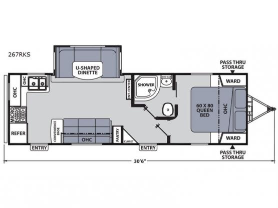 Apex Ultra-Lite 267RKS Floorplan Image