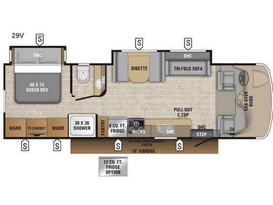 Esteem 29V Floorplan Image