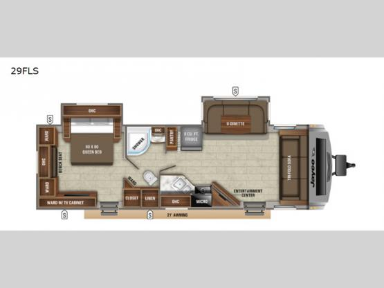 White Hawk 29FLS Floorplan Image