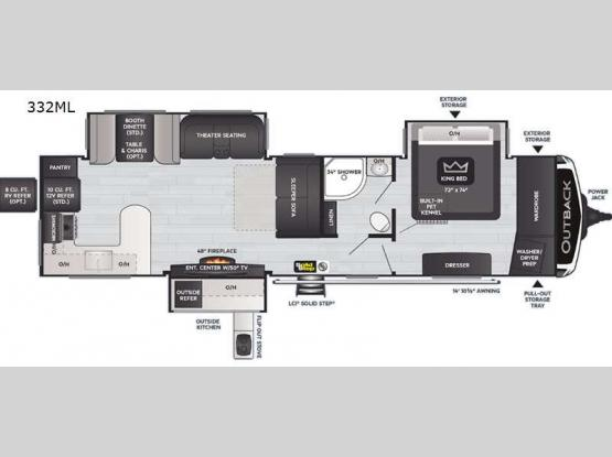 Outback 332ML Floorplan Image